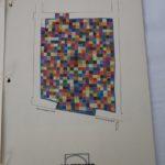 Projet Pierre Vives fleuriste - Calepinage en carreaux ciment colorés