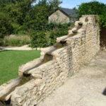 Parc de la Belle - Cascade d'eau sur mur en pierre