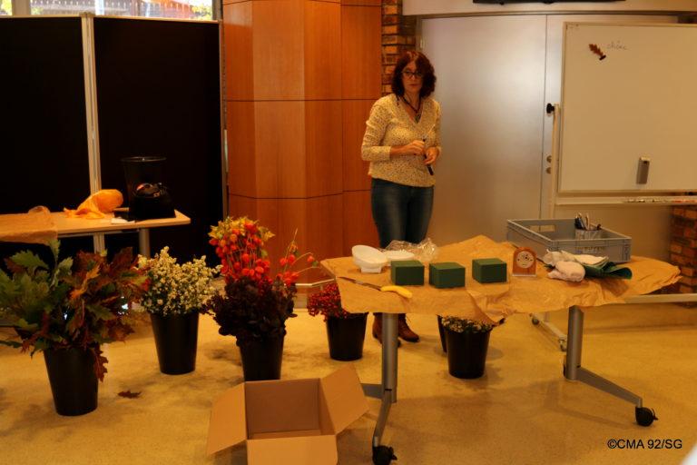Pascale Vrignaud animatrice d'atelier floral